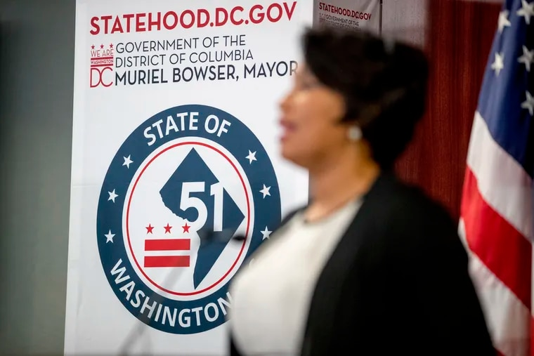 District of Columbia Mayor Muriel Bowser speaks at a news conference on statehood on Capitol Hill on Tuesday, June 16, 2020.