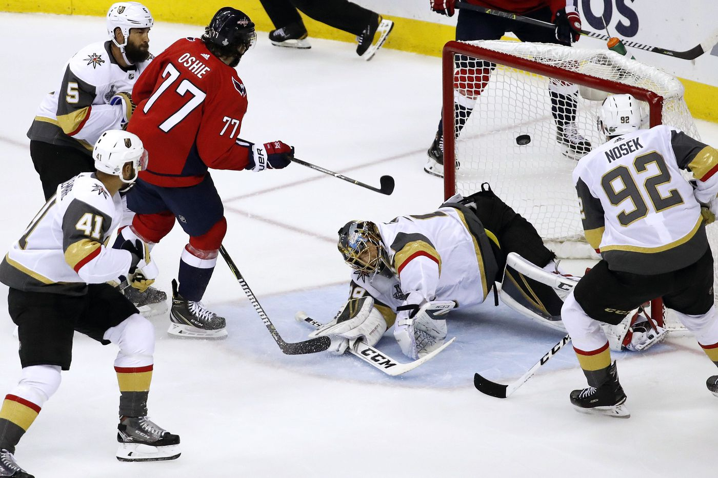 Caps whip Vegas; one win away from first Stanley Cup