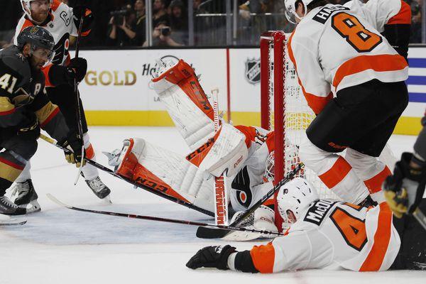 Mikhail Vorobyev, Brian Elliott shine in Flyers' win over Vegas Golden Knights