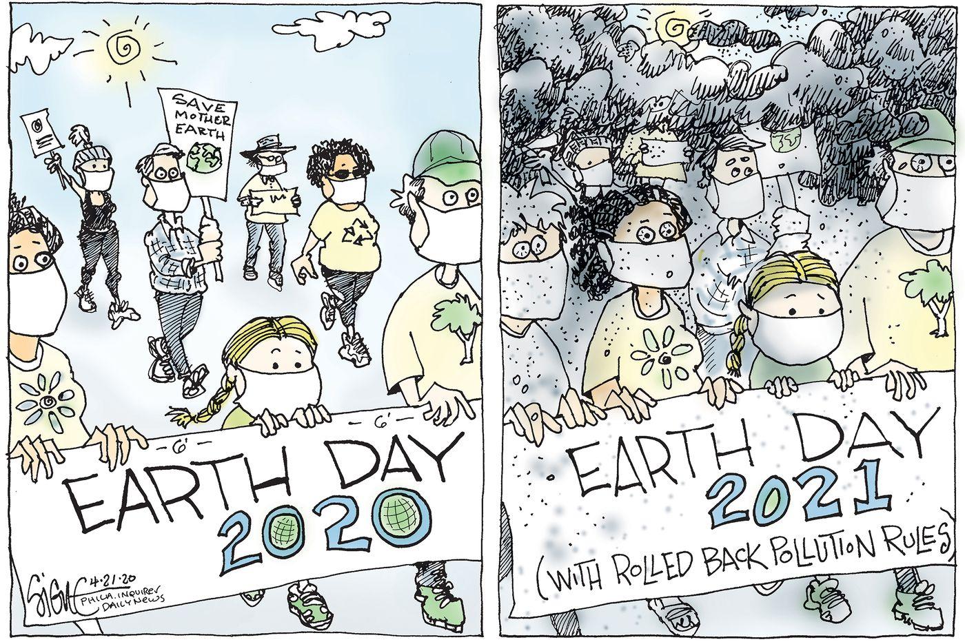 Political Cartoon: Happy regulation-free Earth Day!