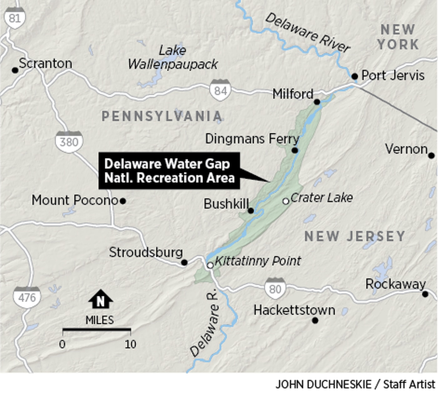 delaware water gap national recreation area map To Save Delaware Water Gap Park From Overcrowding Officials Eye delaware water gap national recreation area map