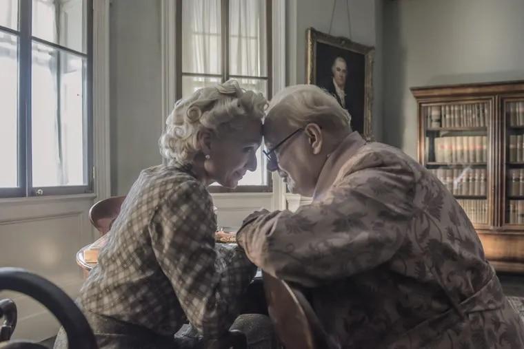 Gary Oldman and Kristin Scott Thomas in 'Darkest Hour.'