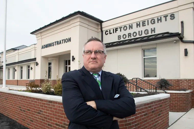 Clifton Heights mayor Joseph Lombardo says residents don't want Upper Darby School District to build a new middle school on the only open field left in the borough.
