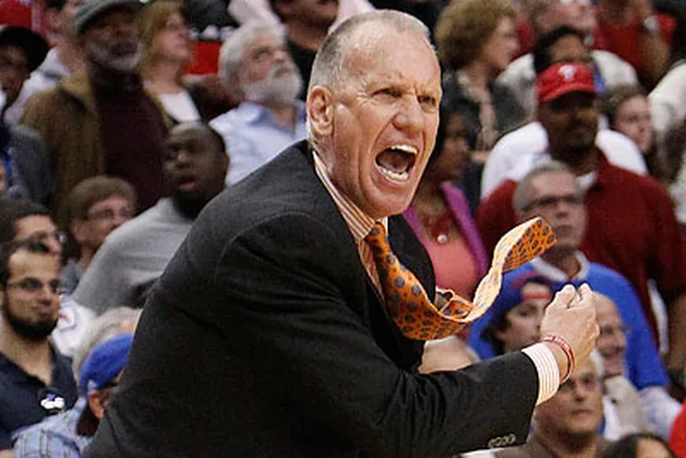 Doug Collins would knock his former team out of the playoffs if the 76ers win tonight. (Ron Cortes/Staff Photographer)