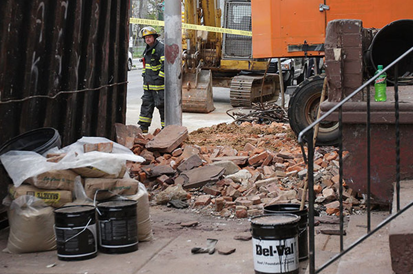 Two workers hurt in demolition of Strawberry Mansion rowhouse