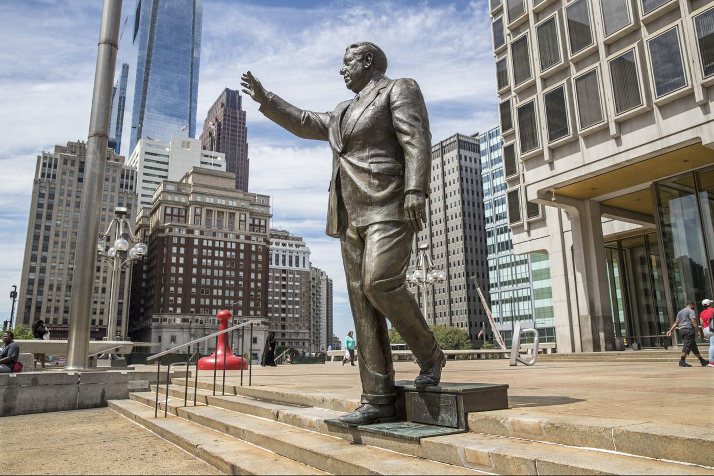 Philly teacher charged in altercation with police at Rizzo statue protest