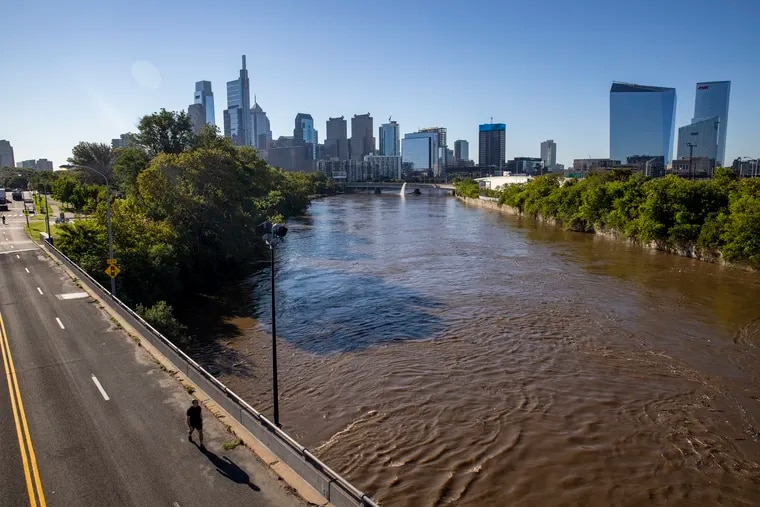 The Schuylkill River as seen from the pring Garden bridge in the aftermath of Ida's assault. It's been quite a season for landfalls, and tropical impacts on Philly.