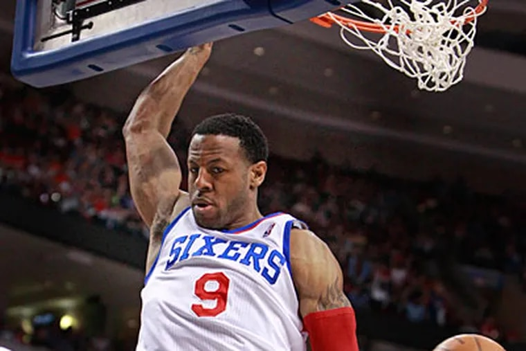 Andre Iguodala has scored 41 total points in the Sixers' four games against the Bulls. (Ron Cortes/Staff Photographer)