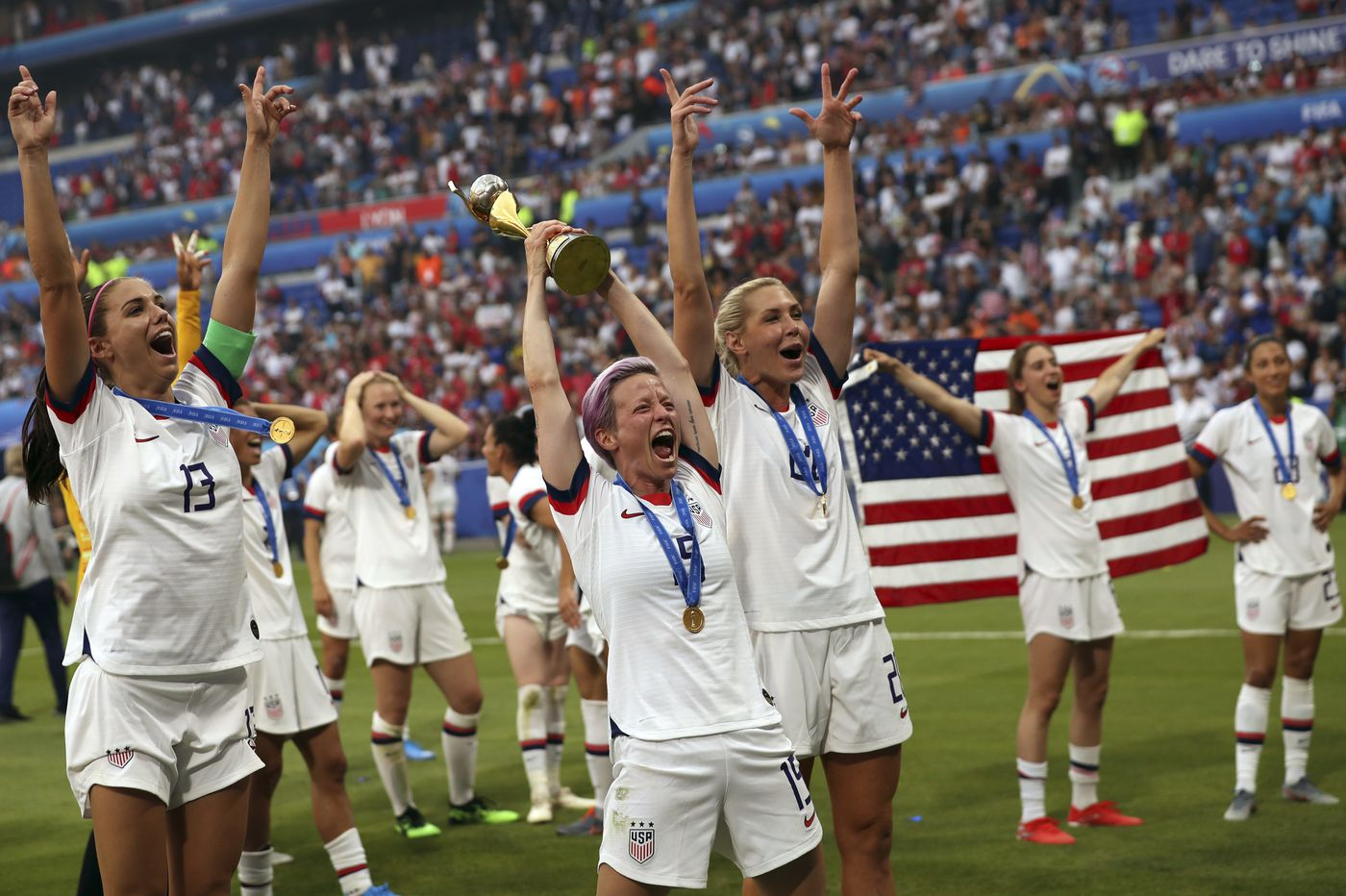 A stadium of soccer fans chanting 'Equal pay!' feels like a turning point. Will it be?