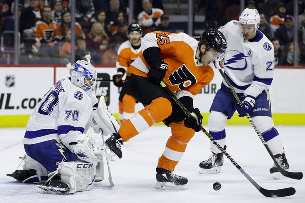 Flyers get blitzed by shorthanded Lightning in loss