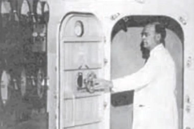 Dr. Joseph Hollander and his 'Climatron.'