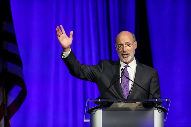 """Governor Tom Wolf addresses the Pennsylvania Democratic Party's inaugural """"Independence Dinner."""" at The Pennsylvania Convention Center in Philadelphia, Friday, November 1, 2019"""