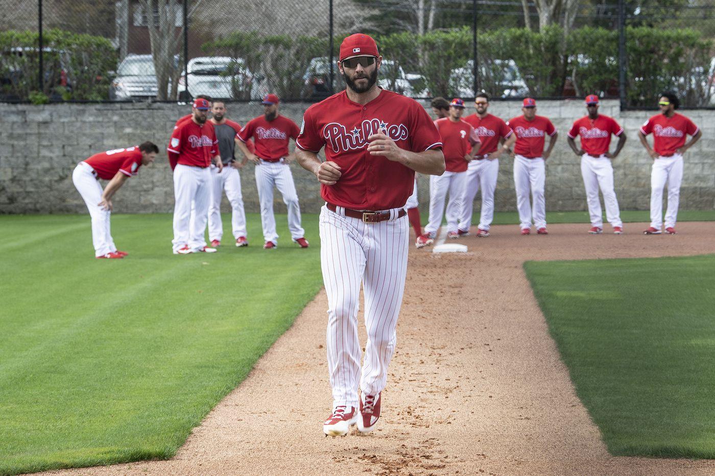 Jake Arrieta celebrated the Phillies' getting Bryce Harper by wearing a Speedo