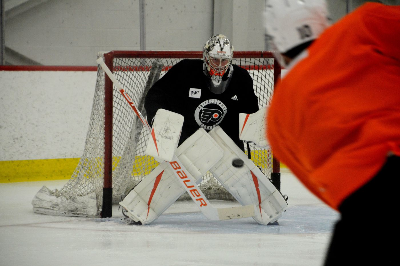 Flyers goalie Carter Hart takes part in full practice, says he's ready for Tuesday's exhibition vs. Penguins