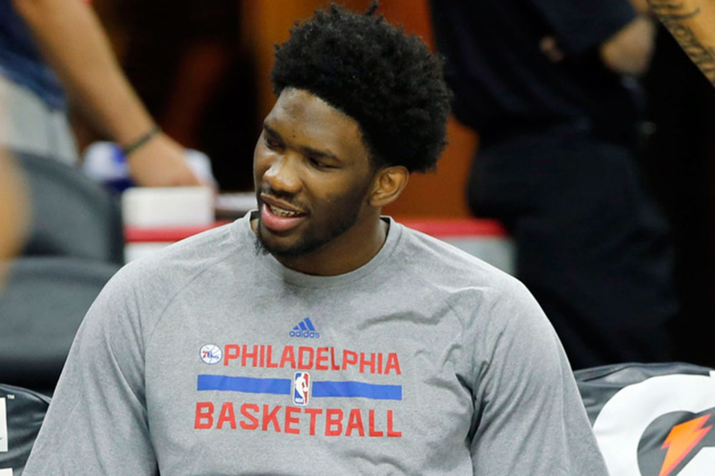 Sixers guard Embiid as he rehabs