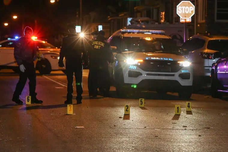 Police investigate a homicide where a 30 year-old male was shot at least once in the head and pronounced at 7:15pm, 9 spent shell casing at the scene in the 1400 block of 67th street, Wednesday, December 30, 2020.