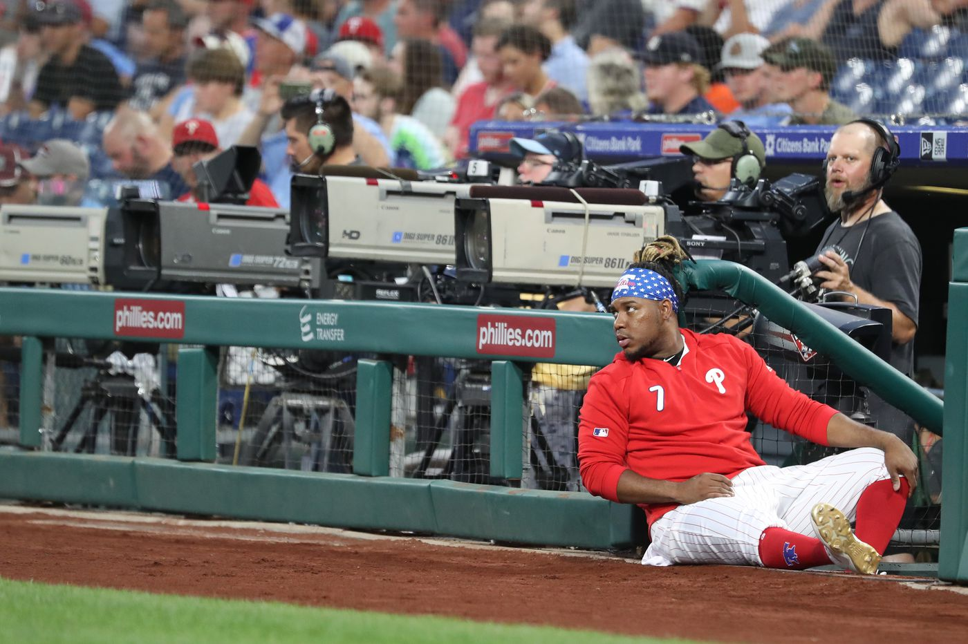 Maikel Franco is spending his likely last days with the Phillies as a bench player