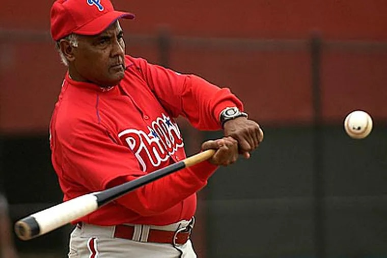 Ruben Amaro Sr. taught his son, current Phillies GM Ruben Amaro Jr., the ins and outs of baseball. (Michael Perez / Staff file photo)
