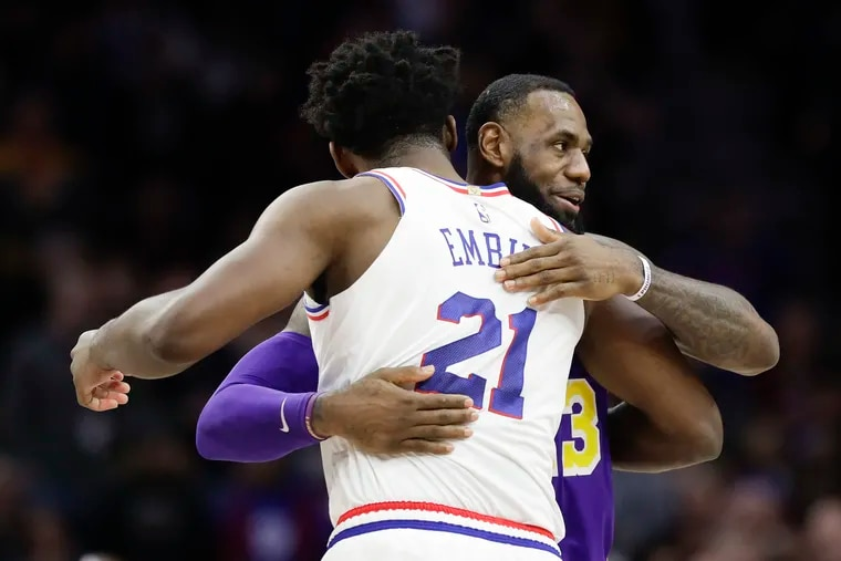 LeBron James and the Los Angeles Lakers will be Joel Embiid and the Sixers' first true test of the season.