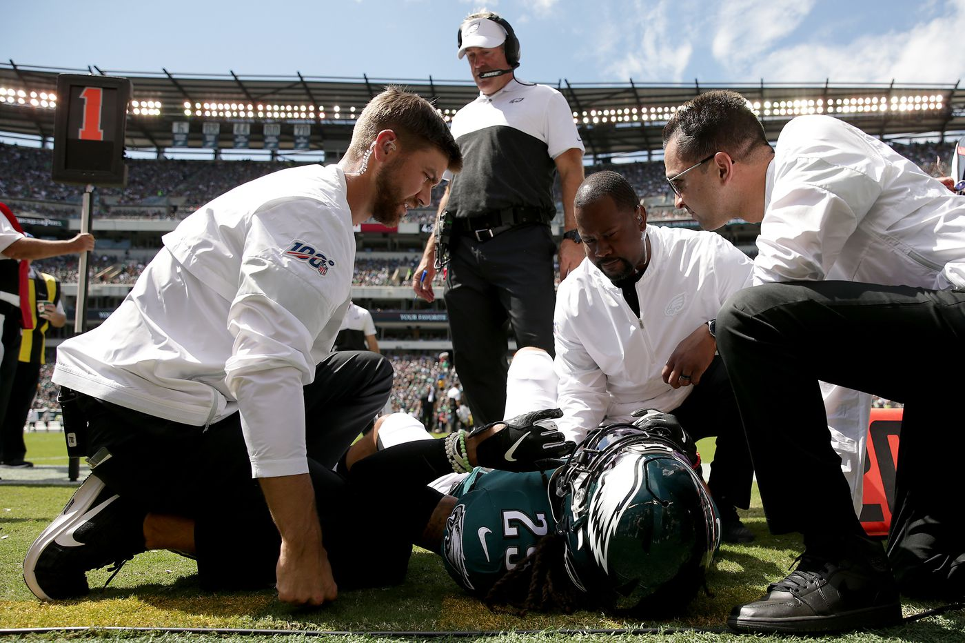 Eagles' injuries have decreased; they've still been part of the story in 2019