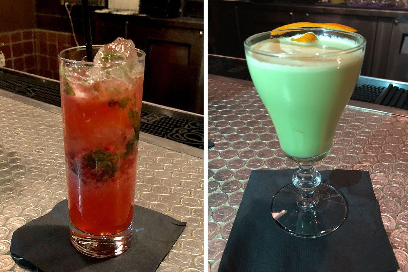 Hop Sing Laundromat's Lê creating drink list for Han Dynasty