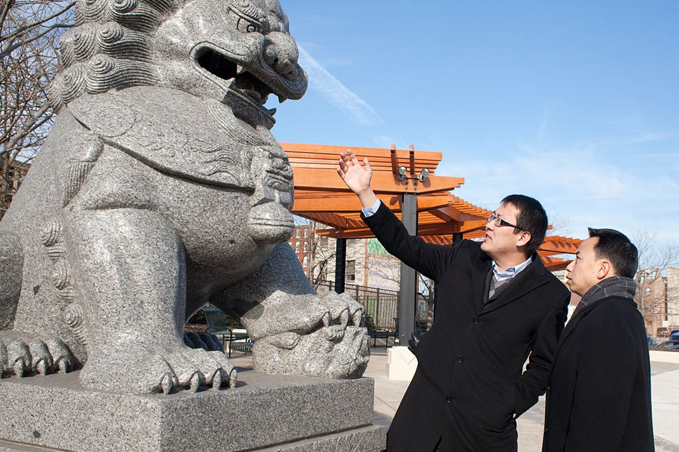 Vandalism of Chinatown school lion being investigated as possible hate crime