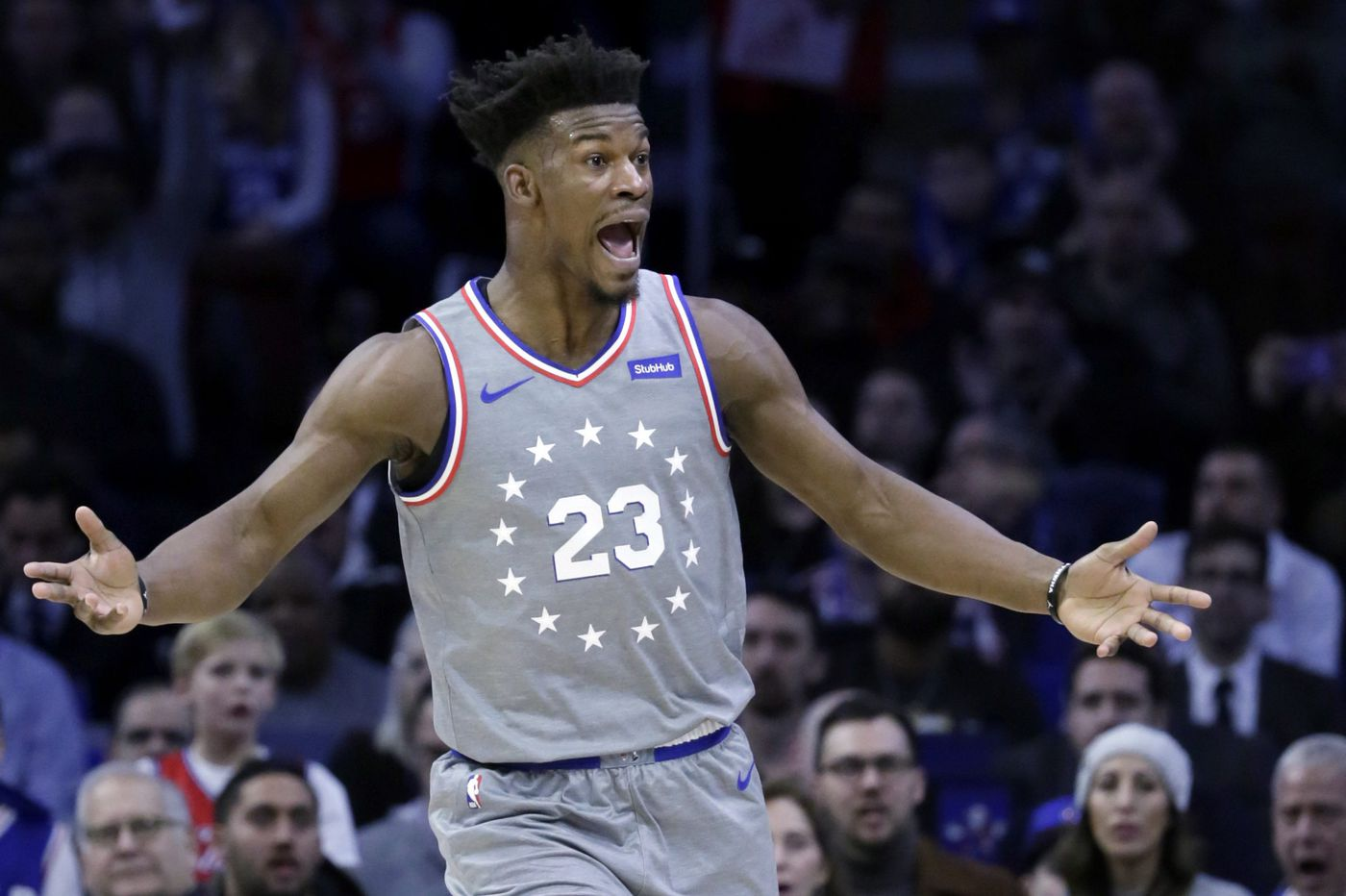 the best attitude ebf12 aa0ac What's Jimmy Butler's future with the Sixers? 'I could see ...