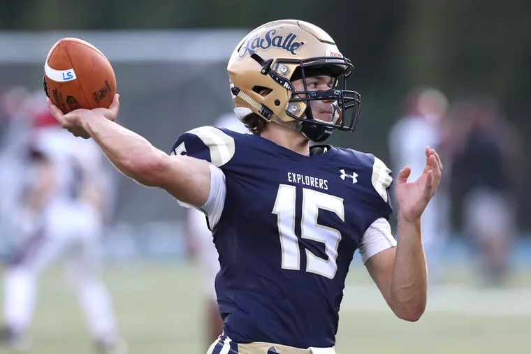 Jack Machita tossed two touchdown passes in La Salle's 49-0 victory over Archbishop Ryan.