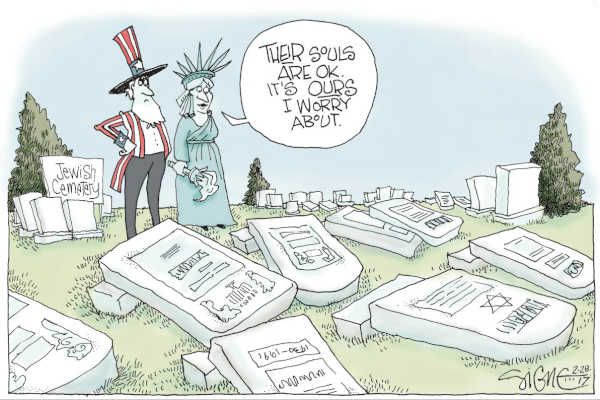 Inquirer Editorial: Jewish cemetery's desecration was a hateful crime