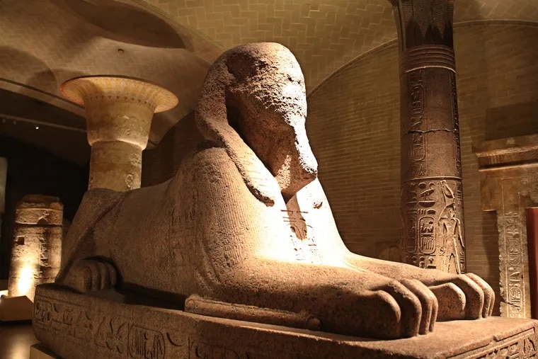 The Sphinx of Ramesses II, from Memphis, Egypt, is the sixth-largest granite sphinx in the world, and the largest in the western hemisphere.