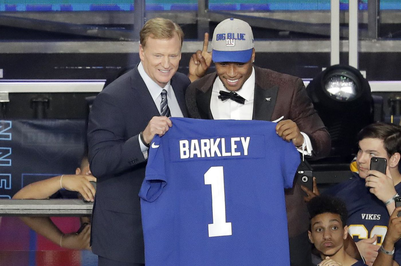 5fcb6e6d9 Saquon Barkley picked No. 2 overall by Giants  Browns take Baker Mayfield  at No. 1