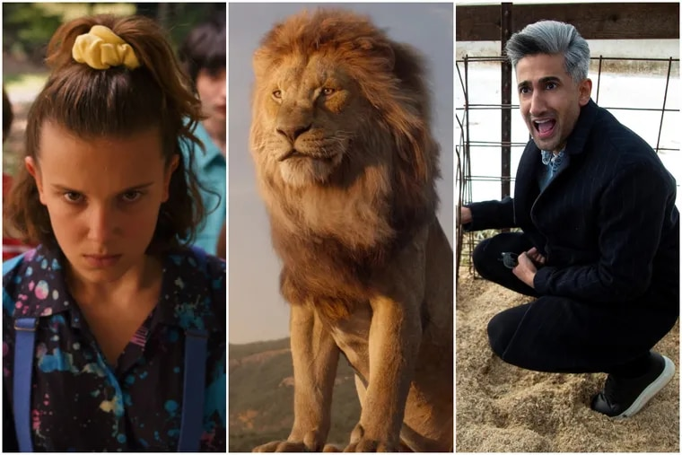 Millie Bobby Brown from Netflix 'Stranger Things,' Mufasa from 'The Lion King,' and Tan France from Netflix's 'Queer Eye'