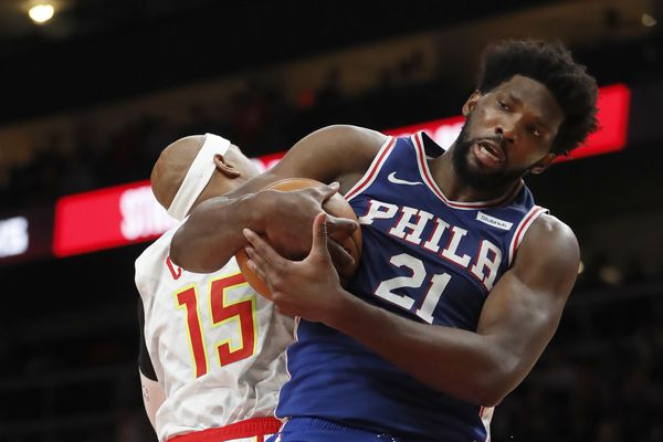 Joel Embiid scores 36 points in Sixers' 105-103 victory over Hawks