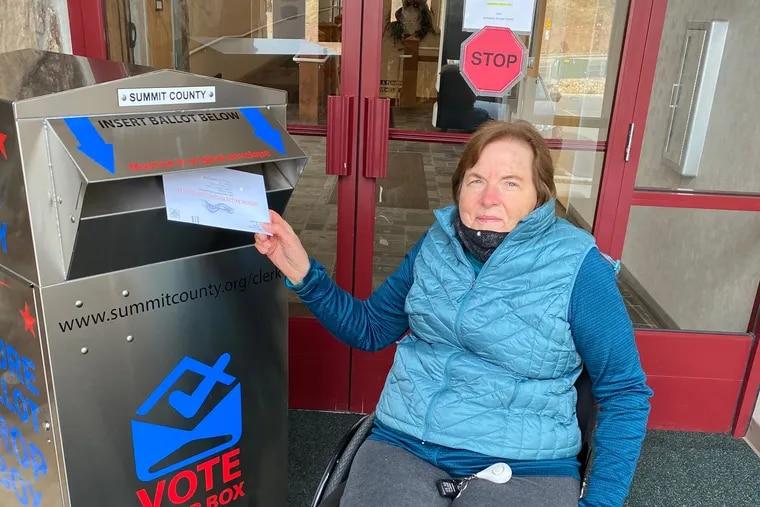 Lansdowne and Villanova native Elizabeth Fetter votes Oct. 23, 2020, in Summit County, Utah.