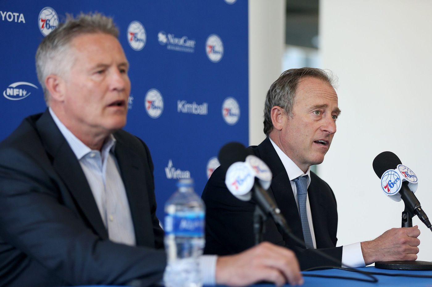 Sixers press conference: What Brett Brown and Josh Harris said about Bryan Colangelo