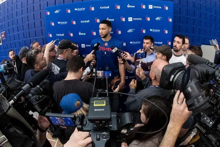 Ben Simmons had little to say about a report that said he was out of a March game because he was partying the night before, not sick.