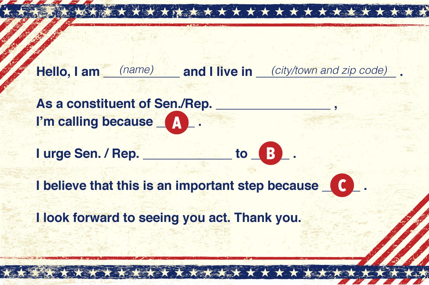 How to call Congress: A mix-and-match script | Opinion