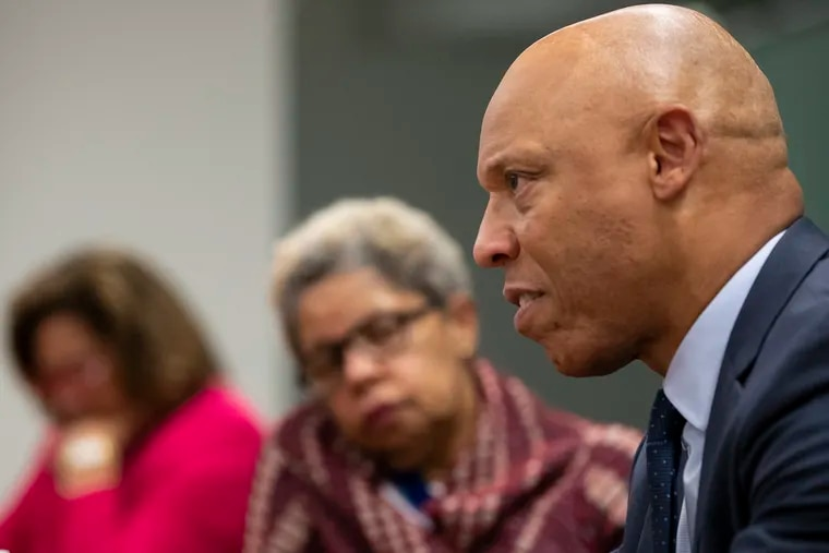 Philadelphia School District Superintendent William R. Hite Jr. announced temporary relocation sites for Benjamin Franklin High and Science Leadership Academy, Thursday, Oct. 10.