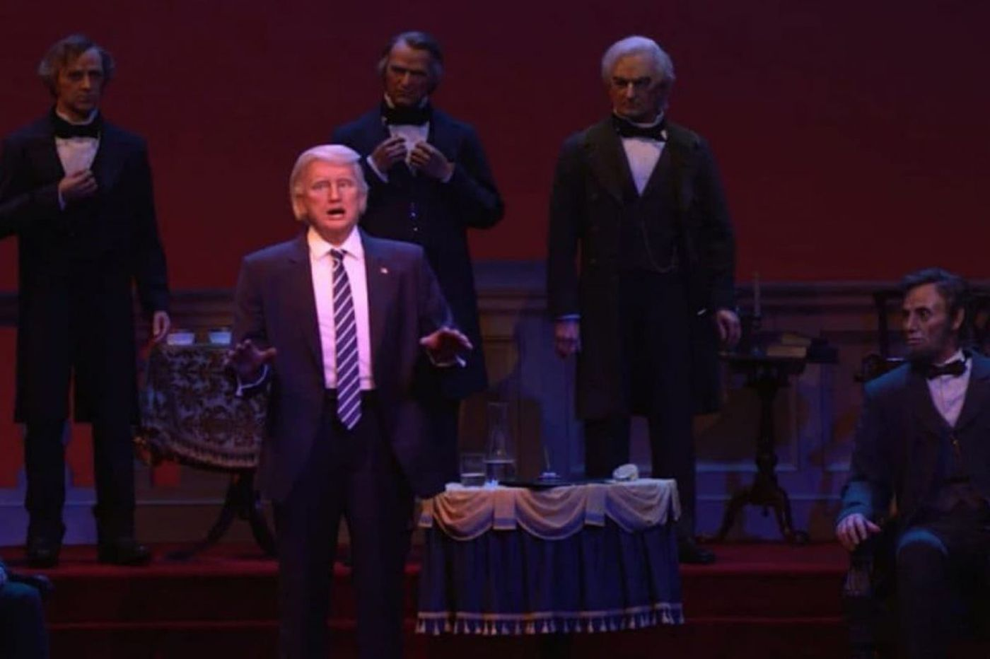 Disney World's President Trump robot has been the object of ridicule