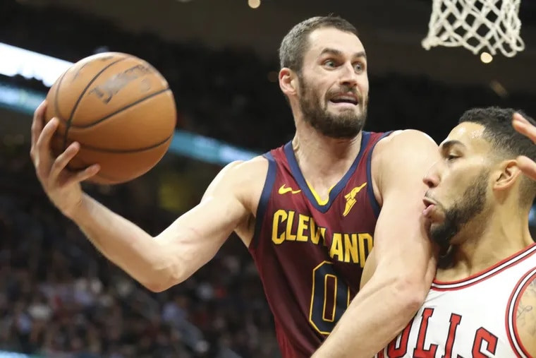 Kevin Love (left) has had three straight double-doubles for the Cavaliers.