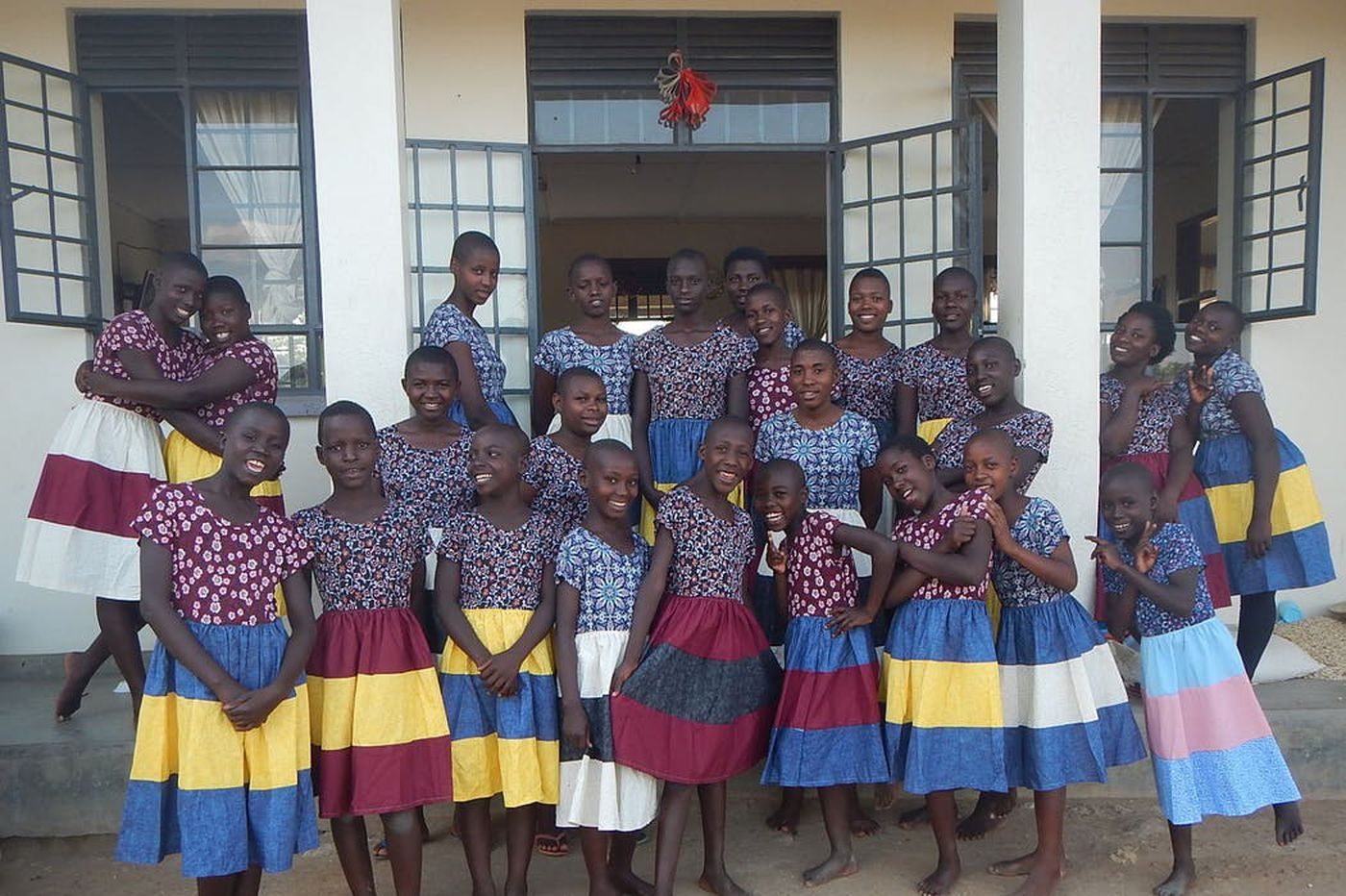 Clothes made by college students goes to orphans in Uganda