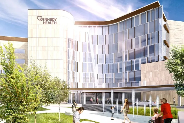 An artist's rendering of Kennedy Health's planned new building at 2201 Chapel Ave. Ground-breaking is set for April 30.