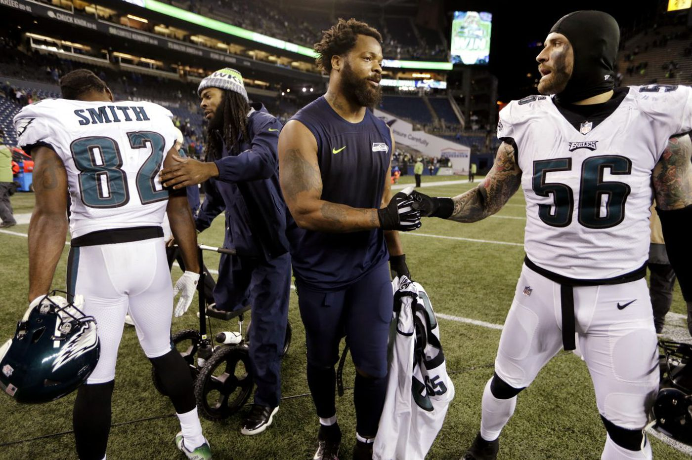 Michael Bennett didn't waste time rallying for Meek Mill after Eagles-Seahahwks trade announced