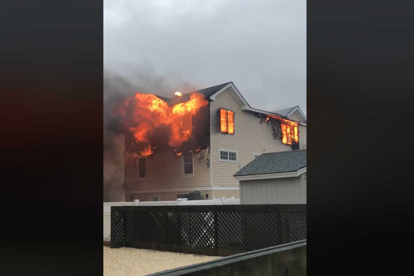Fire breaks out at LBI house struck by lightning amid nor'easter