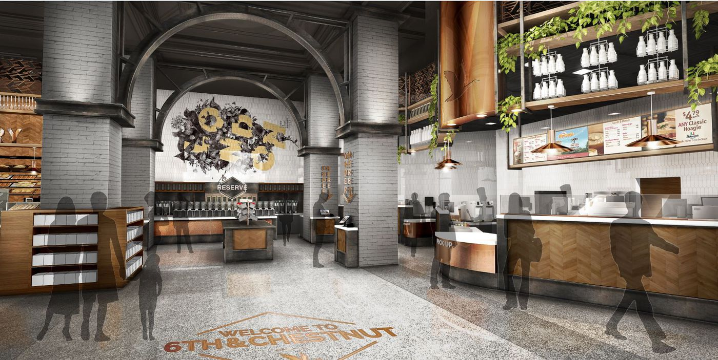 A Rendering Of The Interior Wawa Planned For Sixth And Chestnut Streets
