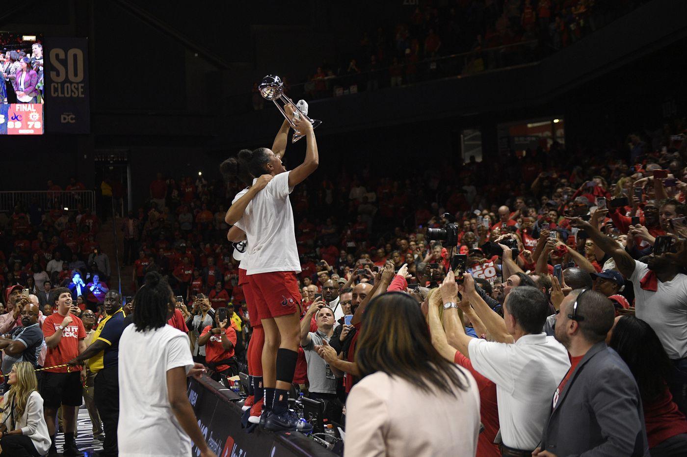 Elena Delle Donne, Washington Mystics win first WNBA title, beating Connecticut Sun 89-78 in Game 5