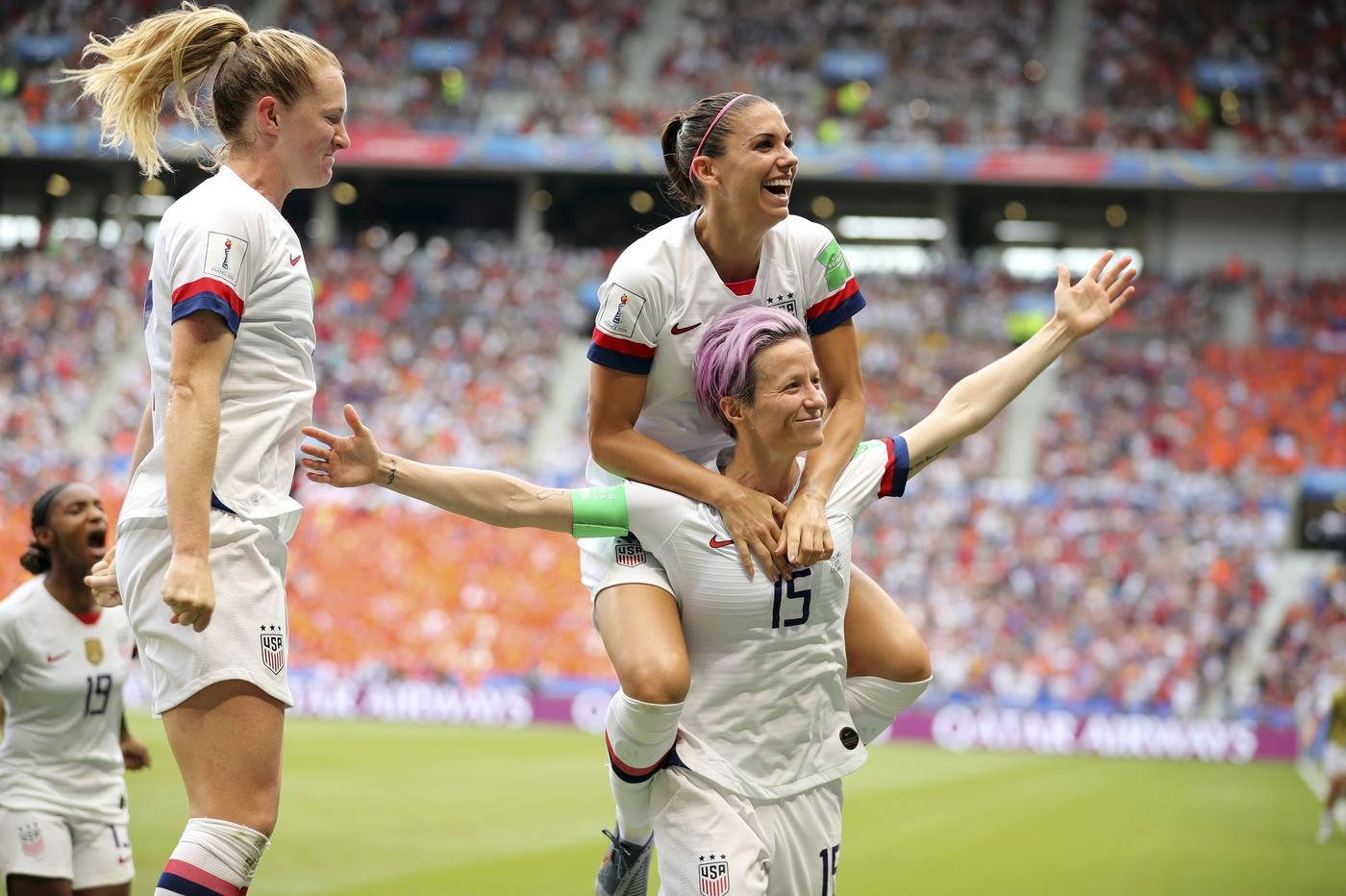 d2d67bbe3 Megan Rapinoe's U.S. women's team won a fourth World Cup, and the right to  be rewarded ...