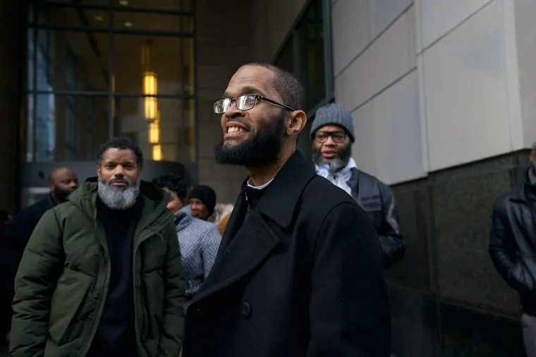 Theophalis Wilson, shown here outside the Criminal Justice Center, was exonerated Tuesday, Jan. 21, 2020 after 28 years in prison for a triple murder that took place when he was just 17 years old.