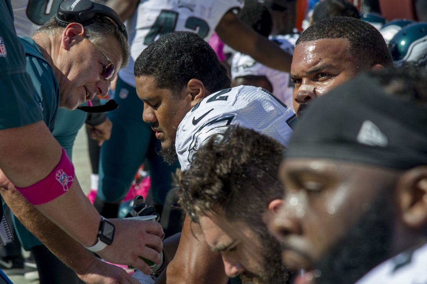 Hayes: Eagles' o-line coach a miracle worker