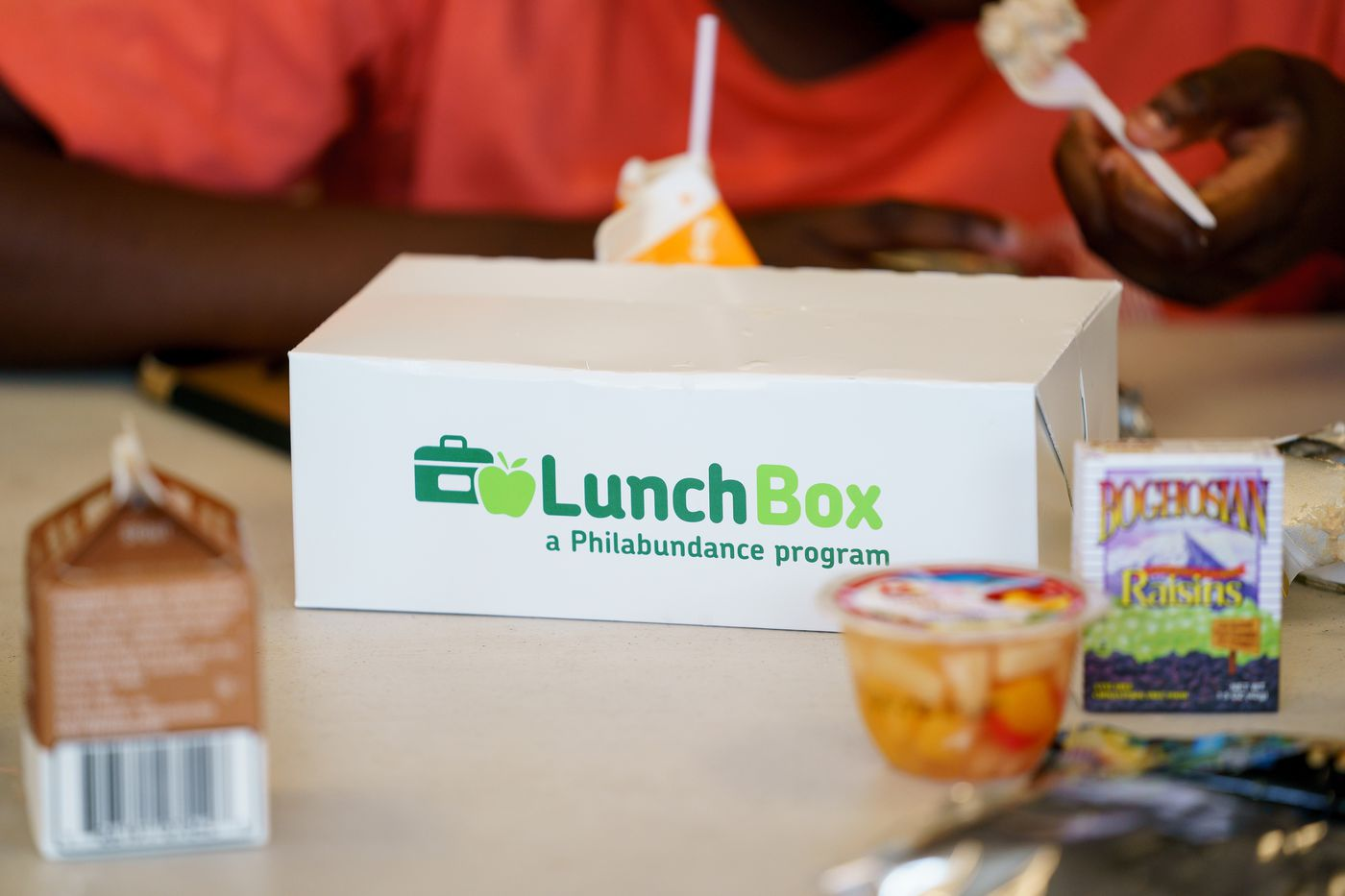 A lunch provided by Philabundance at the Police Athletic League, in South Philadelphia.